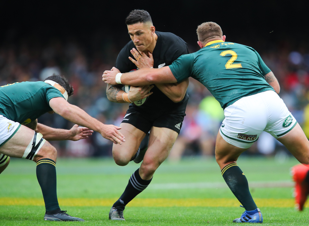 Sonny Bill Williams carries the ball for the All Blacks
